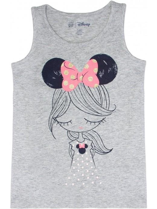 Regata feminina infantil Disney estampa da Minnie