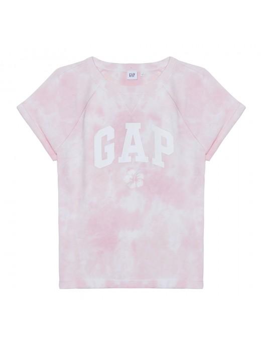 Camiseta feminina adulto tie dye com LOGO