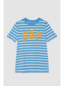 Camiseta masculina infantil listrada com LOGO