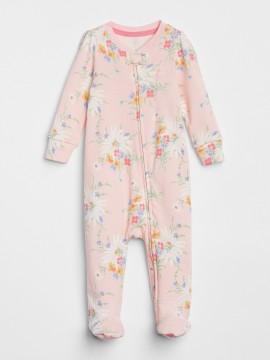 Macacão baby girl com pé e ziper