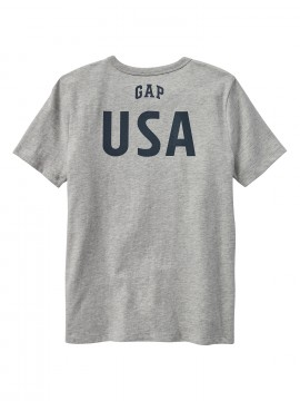Camiseta masculina infantil com bandeira estampada