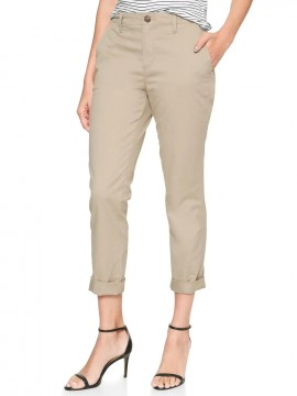 Calça feminina adulto girlfriend khaki