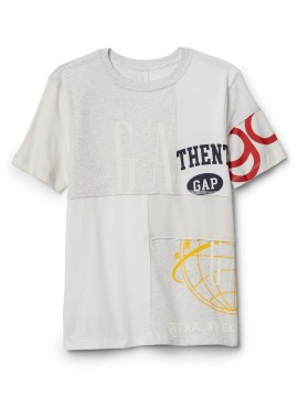 Camiseta masculina infantil com LOGO Remix