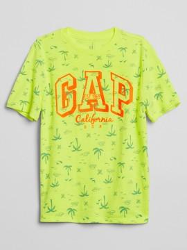 Camiseta masculina infantil com LOGO estampada