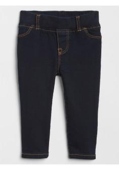Calça feminina infantil jeans skinny com elástico