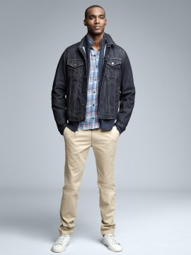 Jaqueta masculina adulto jeans