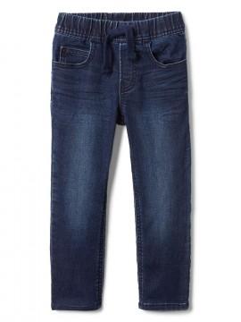 Calça masculina infantil jeans slim com elastico