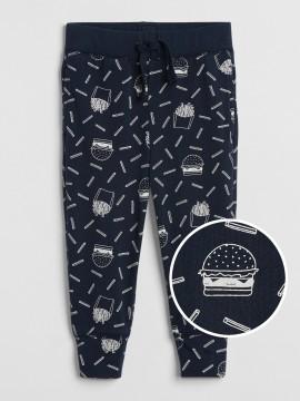Calça masculina infantil com estampa de hamburguer
