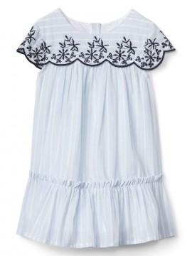 Vestido baby girl com detalhes bordados