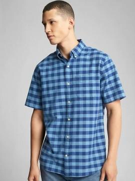 Camisa masculina adulto em Oxford com stretch