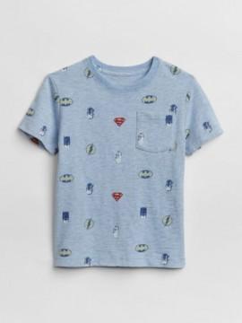 Camiseta masculina infantil com símbolos super herois