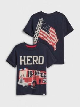 Camiseta masculina infantil com estampa de bombeiro