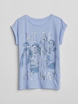 Camiseta feminina infantil com estampa Star Wars