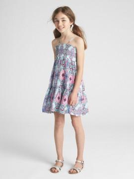 Vestido feminino infantil de alças estampado