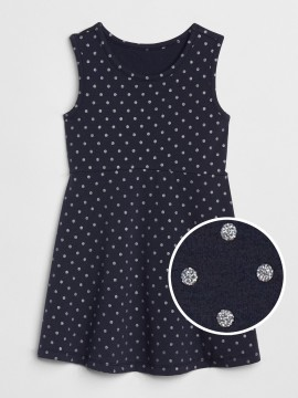 Vestido feminino infantil com estampa de bolinha