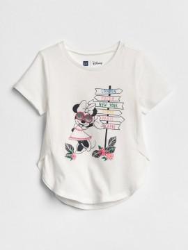 Camiseta feminina infantil Disney, gola careca com estampa Minnie
