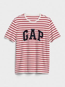 Camiseta masculina adulto listrada com LOGO