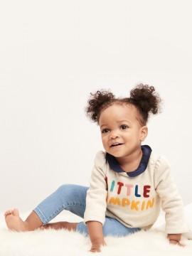 Calça baby girl jeans jegging com elastico