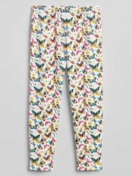 Legging feminina infantil com estampa de borboletas