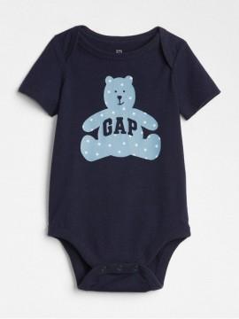 Body baby boy com LOGO e estampa de urso