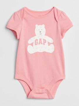 Body baby girl com estampa de urso