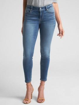 Calça feminina adulto jeans capri legging lightweight denim