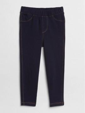 Calça feminina infantil jeans legging com elástico