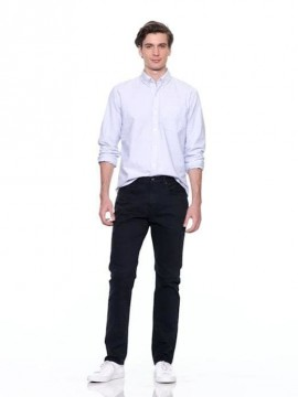 Calça masculina adulto jeans straight
