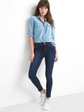 Calça feminina adulto jeans jegging ankle