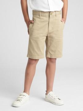 Bermuda masculina infantil com stretch khaki