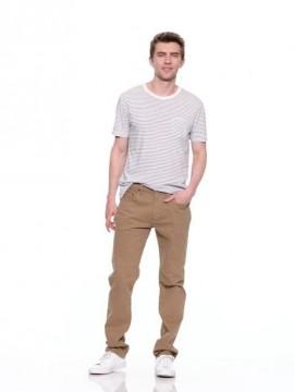 Calça masculina adulto slim color khaki com GapFlex