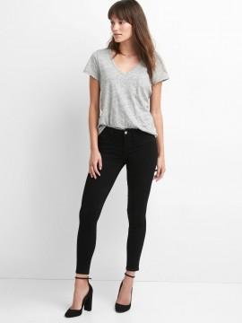Calça feminina adulto jeans jegging ankle cintura média