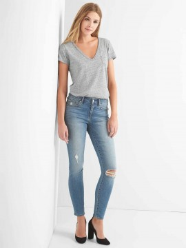 Calça feminina adulto jeans curvy skinny cintura média