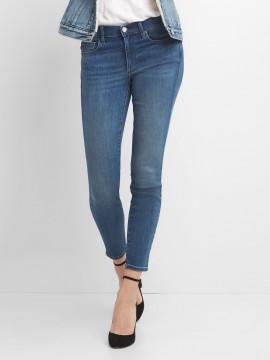 Calça feminina adulto jeans skinny cintura média