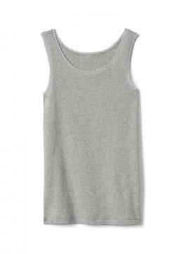 Camiseta feminina infantil regata lisa