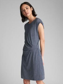 Vestido feminino adulto manga curta com detalhe na cintura