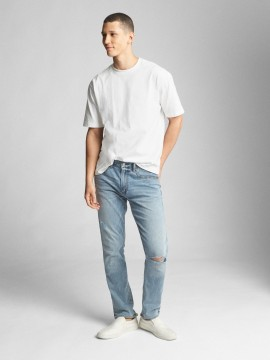 Calça masculina adulto jeans superskinny lightweight denim