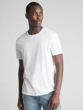 Camiseta masculina adulto básica com gola careca