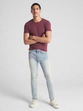 Calça masculina adulto jeans superskinny com GapFlex