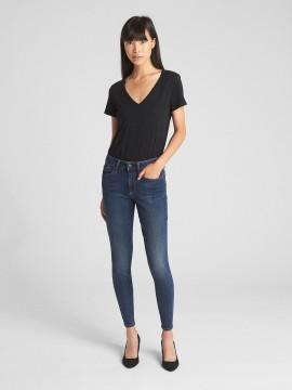 Calça feminina adulto jeans skinny curvy cintura média