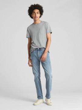 Calça masculina adulto jeans slim lightweight denim com GapFlex