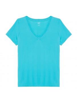 Camiseta feminina adulto lisa gola V
