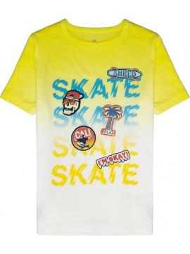 Camiseta masculina infantil com estampa gráfica