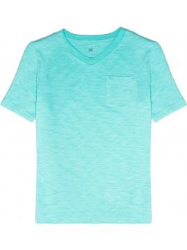 Camiseta masculina infantil lisa com bolso