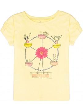 Camiseta feminina infantil com estampa