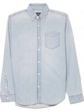 Camisa adulto masculina jeans