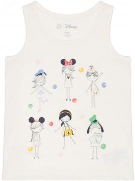 Regata feminina infantil com estampa da Disney