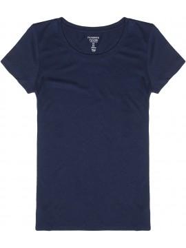 Camiseta feminina adulto básica lisa gola careca