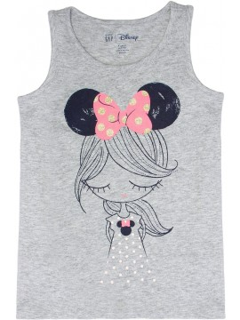 Camiseta feminina infantil Disney, gola careca com estampa Minnie