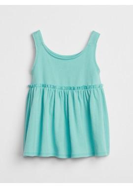 Vestido feminino infantil liso com elástico na cintura